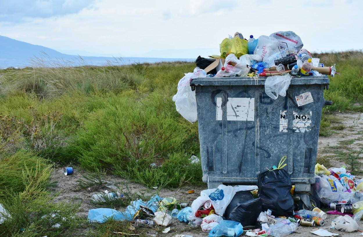 .Plastic waste