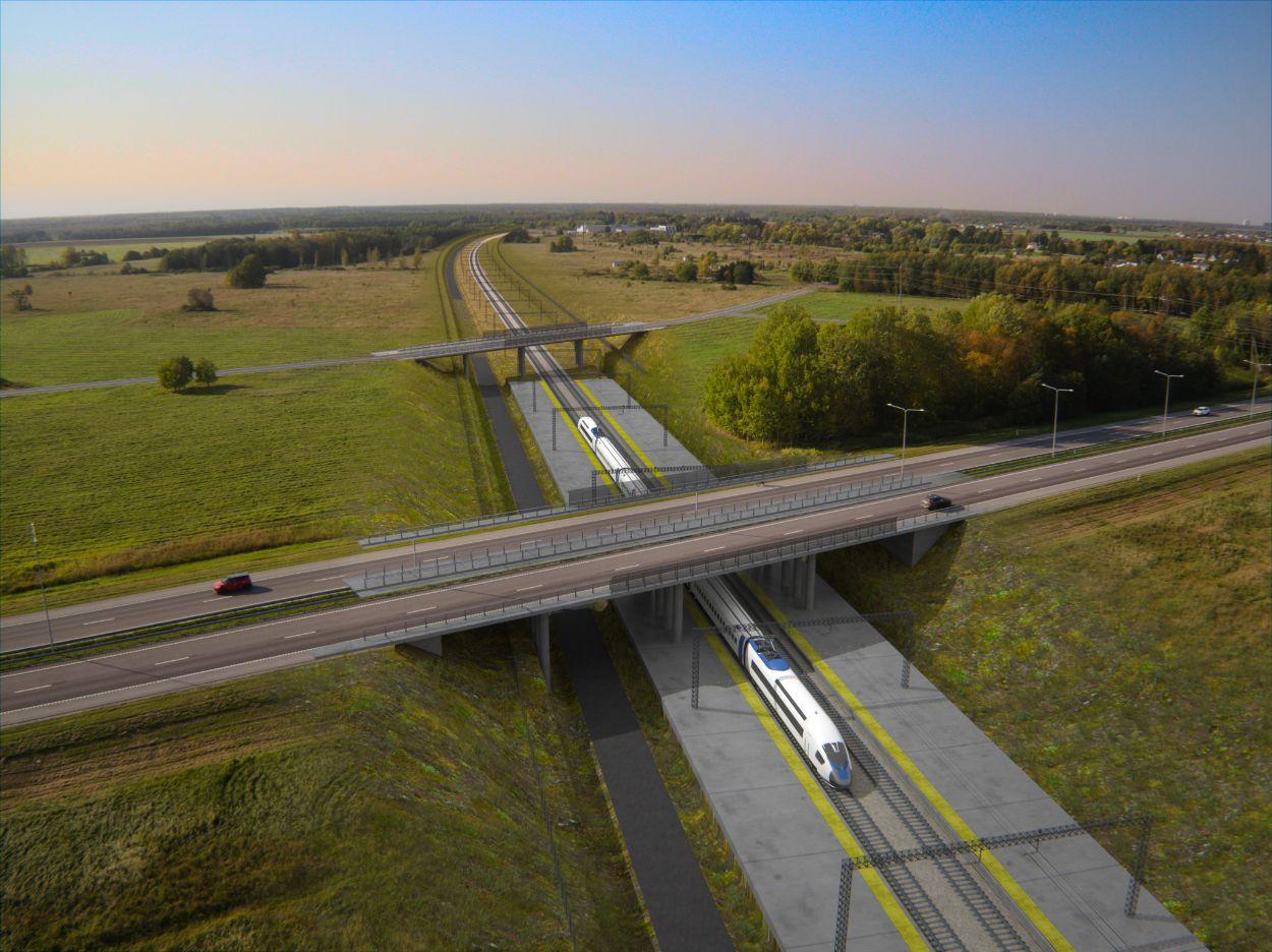 .Assaku viadukt Tallinn-Tartu maantee ristumisel Rail Baltica raudteega (Foto: Rail Baltica)