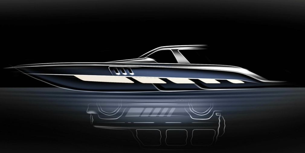 .Mercedes-Benz & Cigarette Racing Boat
