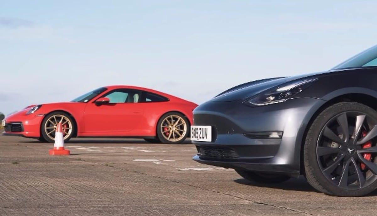 .Tesla Model 3 & Porsche 911 Carrera S