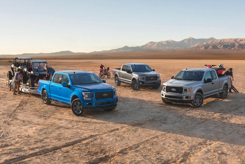.Ford F-серии, Chevrolet Silverado и Ram 1500/2500/3500