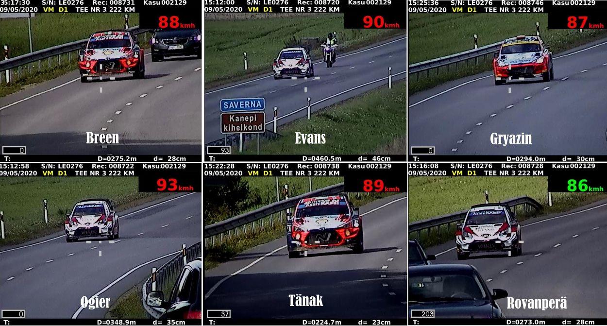 .Rally Estonia võistlejad maanteel