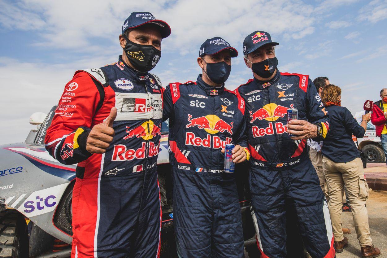 .Stephane Peterhansel, Carlos Sainz, Nasser Al-Attiyah